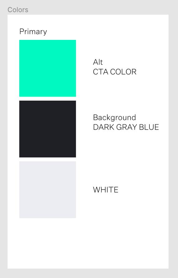 Trois couleurs différentes, un vert flashy, un gris foncé avec un peu de bleu et un blanc cassé